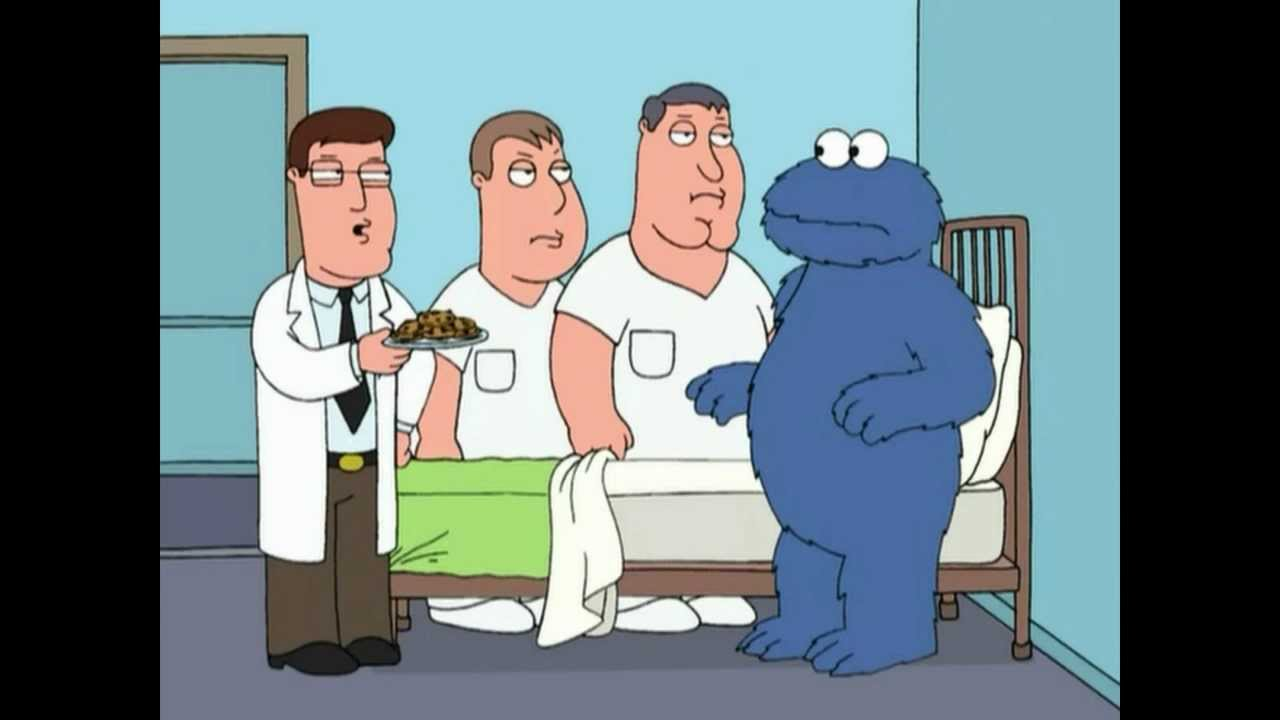 cookie monster rehab family guy hd youtube