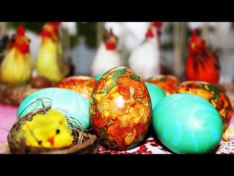 Идеи Окрашивания Пасхальных Яиц ♥ Витражные Яйца из Луковой Шелухи ♥ Рецепты NK cooking