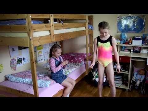 Гимнастический челлендж в купальниках  60 second leotard challenge