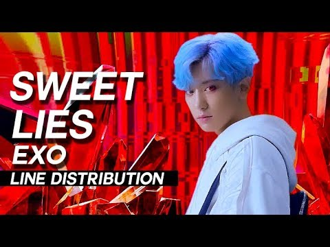 EXO - Sweet Lies Line Distribution (Color Coded)