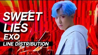 Video EXO - Sweet Lies Line Distribution (Color Coded) download MP3, 3GP, MP4, WEBM, AVI, FLV Juni 2018