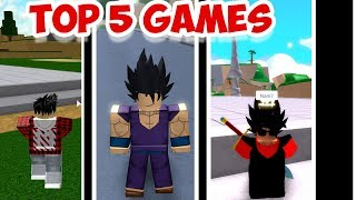 TOP 5 OF THE BEST DRAGON BALL GAMES ON ROBLOX