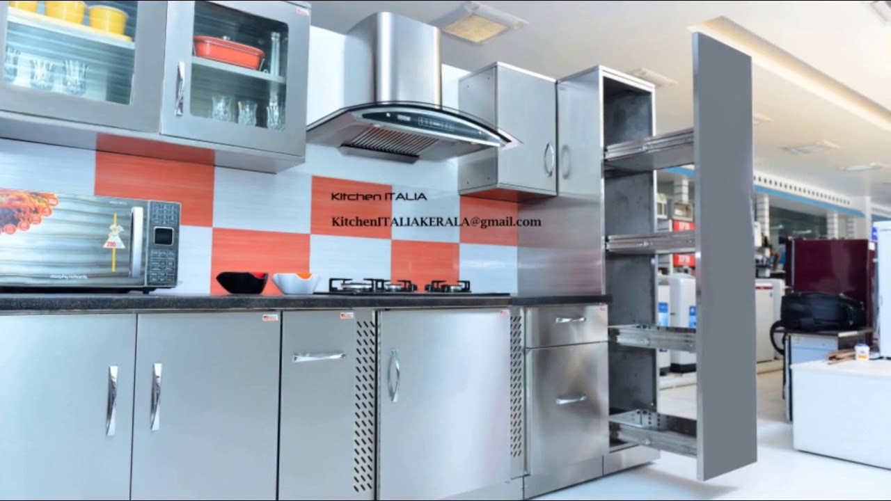 Steel Modular Kitchen Designs in India - YouTube