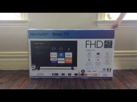 "Sharp 43"" FHD 1080p Roku TV Review--sorta"