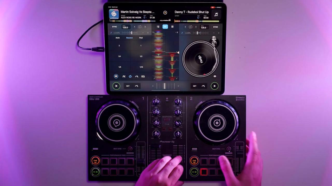iPad Bass House DJ Mix –  Pioneer DDJ 200 & Algoriddim DJay