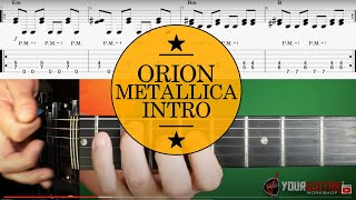 How To Play Orion On Guitar Lesson & TAB #1 Metallica Tutorial