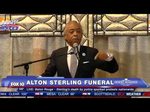 WATCH: Rev. Al Sharpton Speaks PASSIONATELY at Alton Sterling's Funeral