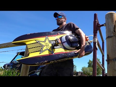 Man And His GIANT Toy Boat - GAS Powered 48