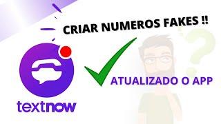 Textnow Atualizado - Como Gerar Números Fakes screenshot 1