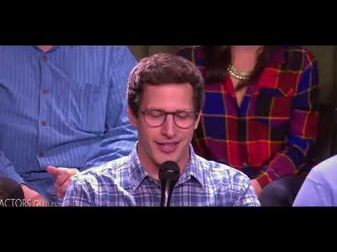 Andy Samberg aka Jake Peralta fun moments with Brooklyn 99 team