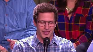 Andy Samberg aka Jake Peralta fun moments with Brooklyn 99 team