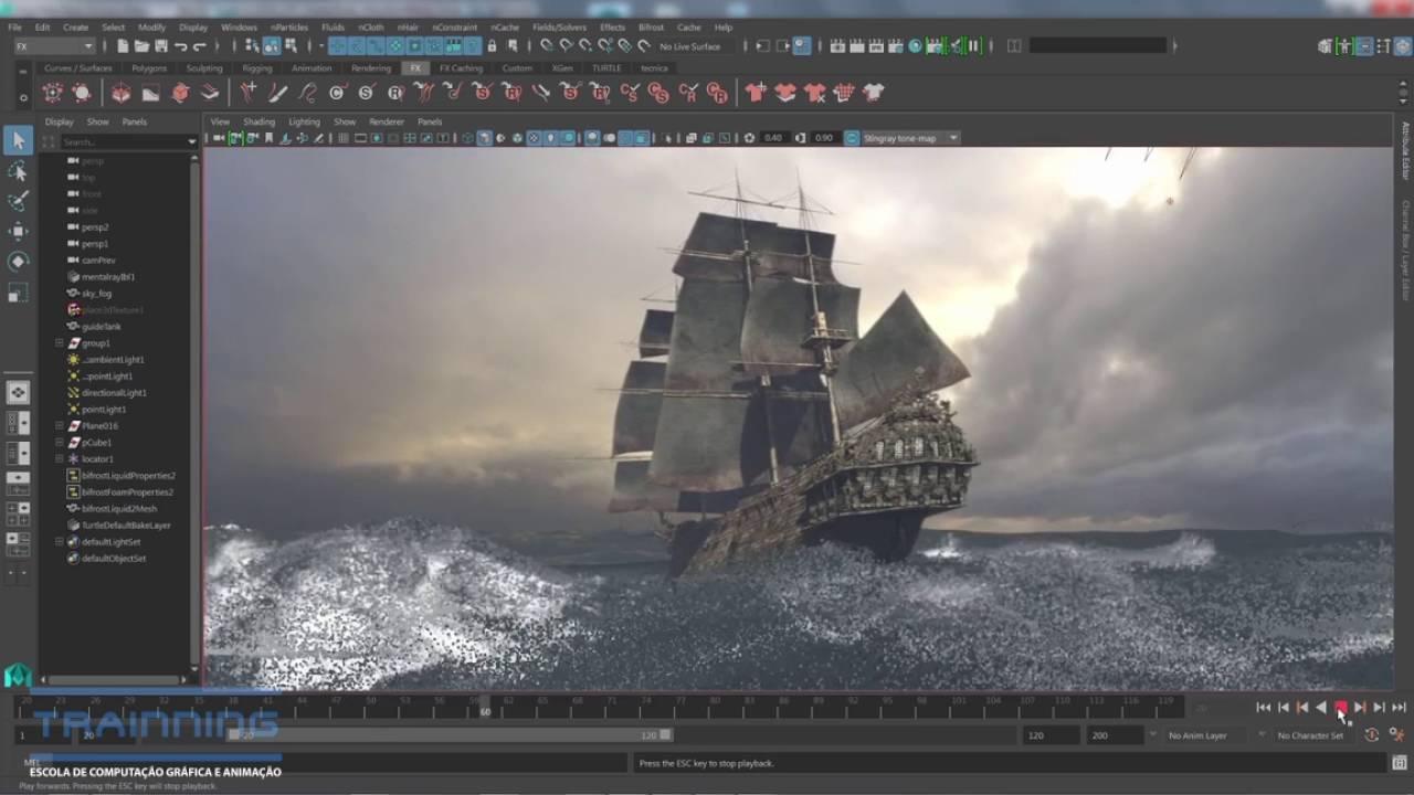 Conheça o poderoso MAYA. Software de 3D da Autodesk - YouTube