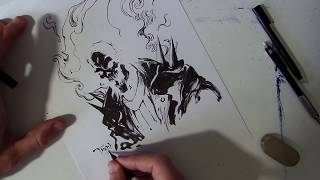 Just Draw - Ghost Rider (Real time - paper, pencil and ink)