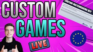 CUSTOM MATCHMAKING EU! SEASON 2 *LIVE* SOLO/DUO/SQUAD SCRIMS FORTNITE LIVE CUSTOM GAMES