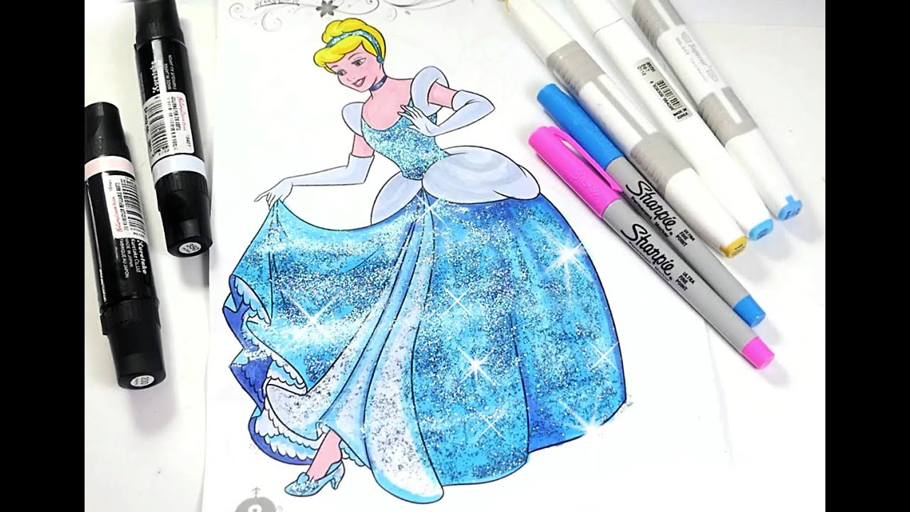 Cinderella Coloring Page Disney Princess Book For Kids