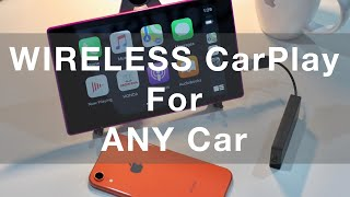 Wireless CarPlay Dongle With Android Tablet For Use In ANY Car