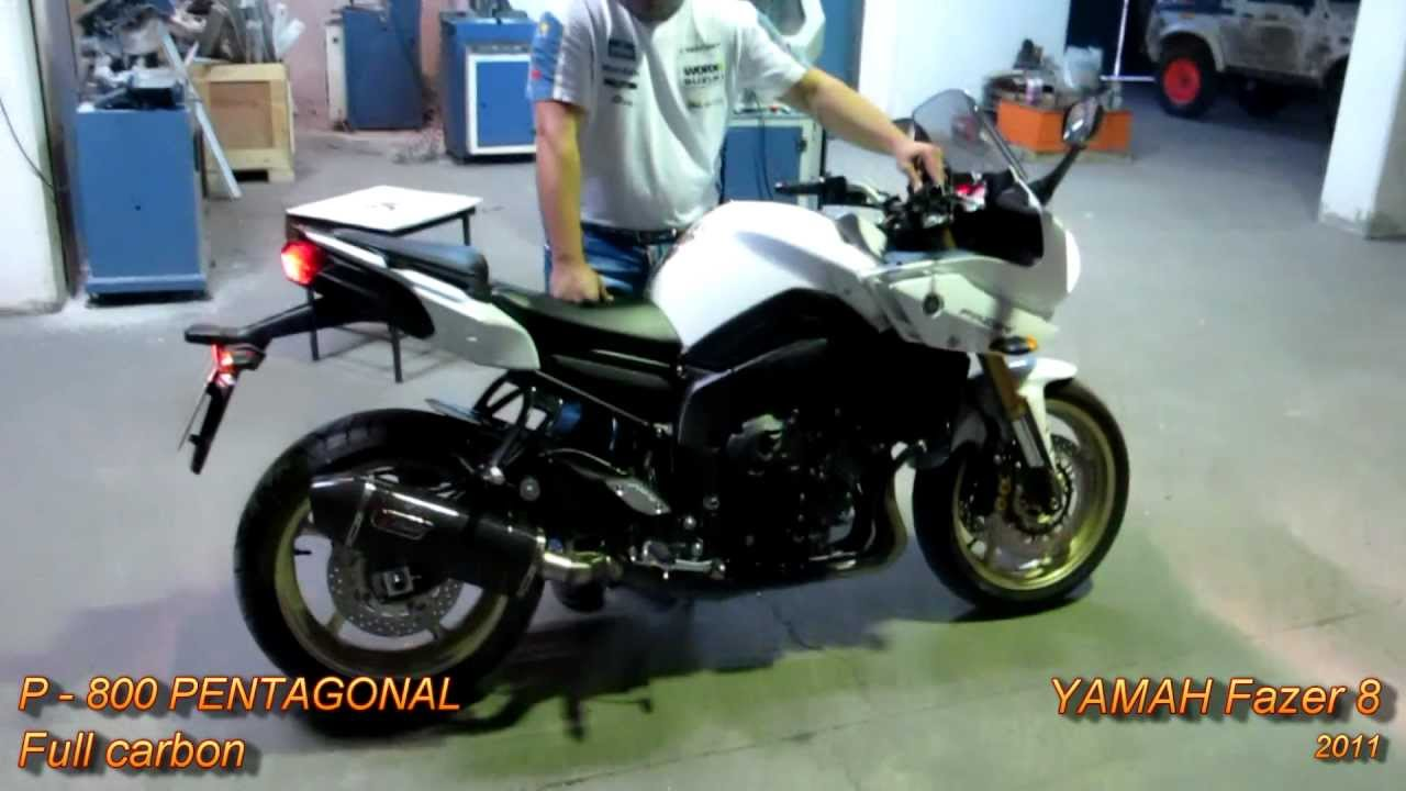 yamaha fz8 fazer 8 2011 with full carbon tiger exhaust system youtube. Black Bedroom Furniture Sets. Home Design Ideas