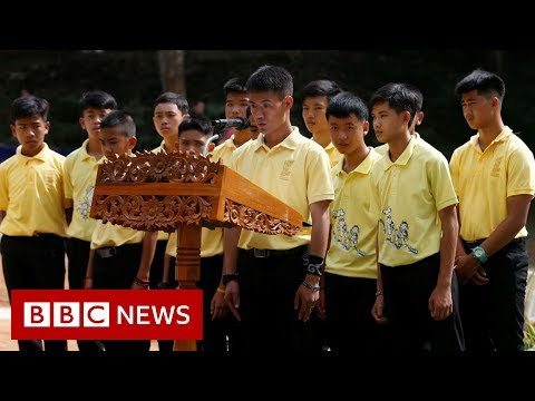 Thailand cave rescue: Boys mark one year anniversary - BBC News