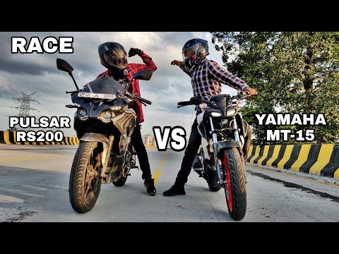 Yamaha MT-15 Bs6 Vs Pulsar RS200 Bs4 | Race | New Channel | #Vlog