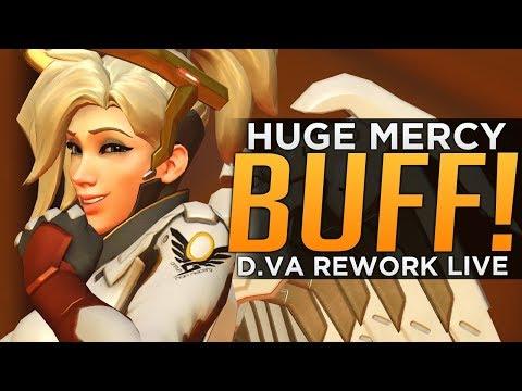 Overwatch HUGE Mercy BUFF & D.Va Rework! - Mercy Meta is HERE!