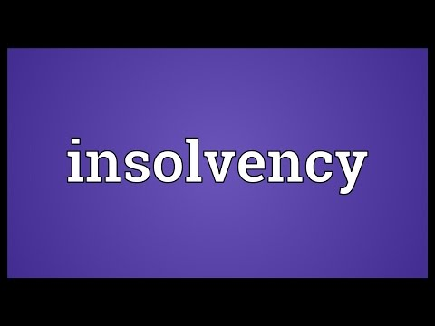 Insolvency Meaning