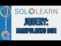 Manipulating DOM: Learn jQuery with Solo