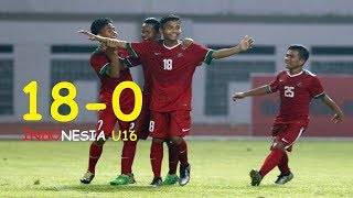 Video PANEN GOL !!! INDONESIA U16 VS MARIANA [ 18 - 0 ] ALL GOALS download MP3, 3GP, MP4, WEBM, AVI, FLV Juli 2018