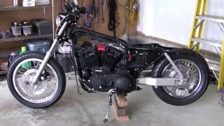 2002 harley sportster 90 inch mid build review hammer performance street race engine and chassis