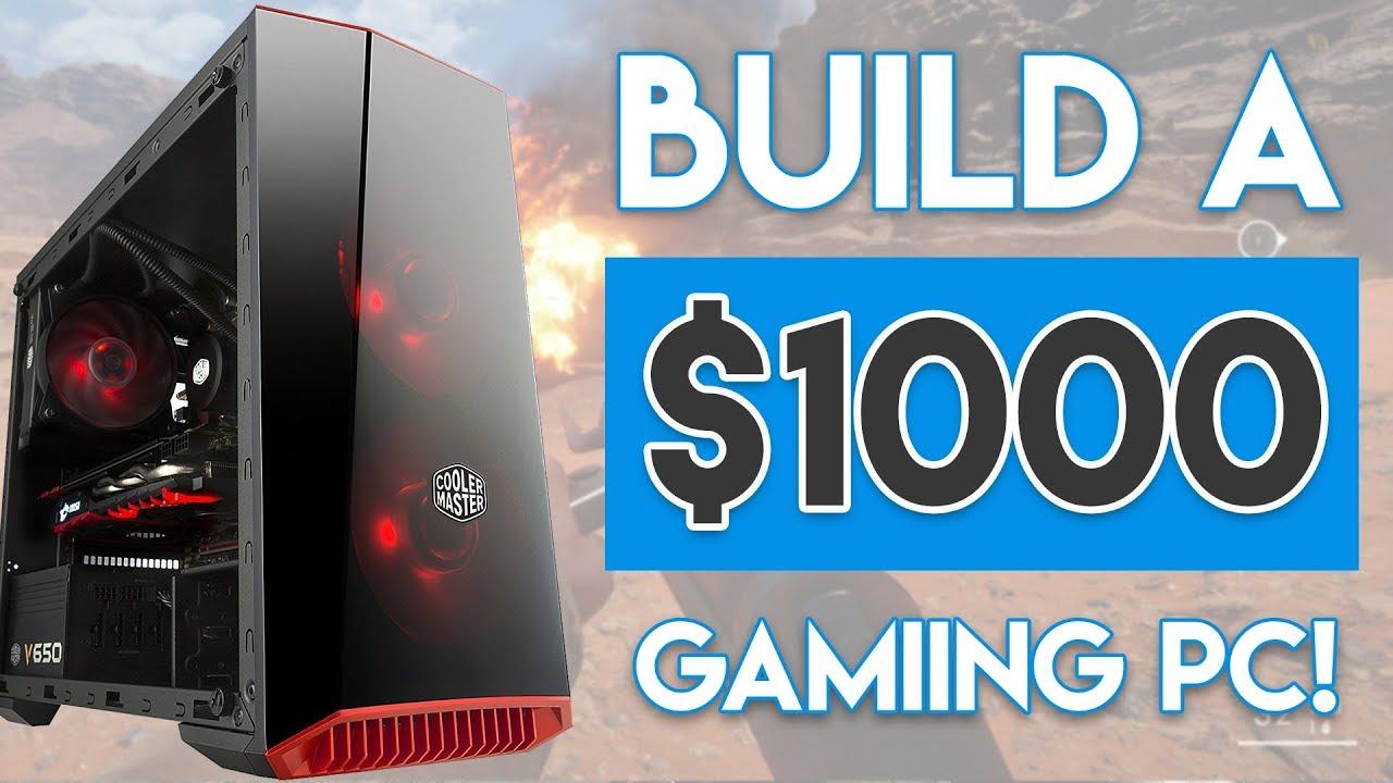 INSANE $1000 GAMING PC BUILD 2017! [4K 60FPS!]