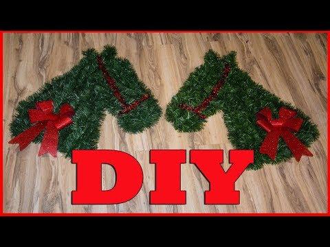 🎄 DIY Horse Head Wreath 🎄 12 Days of Christmas DIY Projects