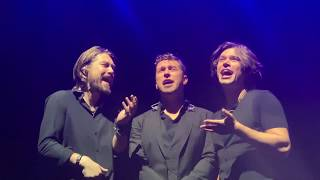 Hanson sing Too Much Heaven a cappella at the Sydney Opera House Concert Hall with no microphones