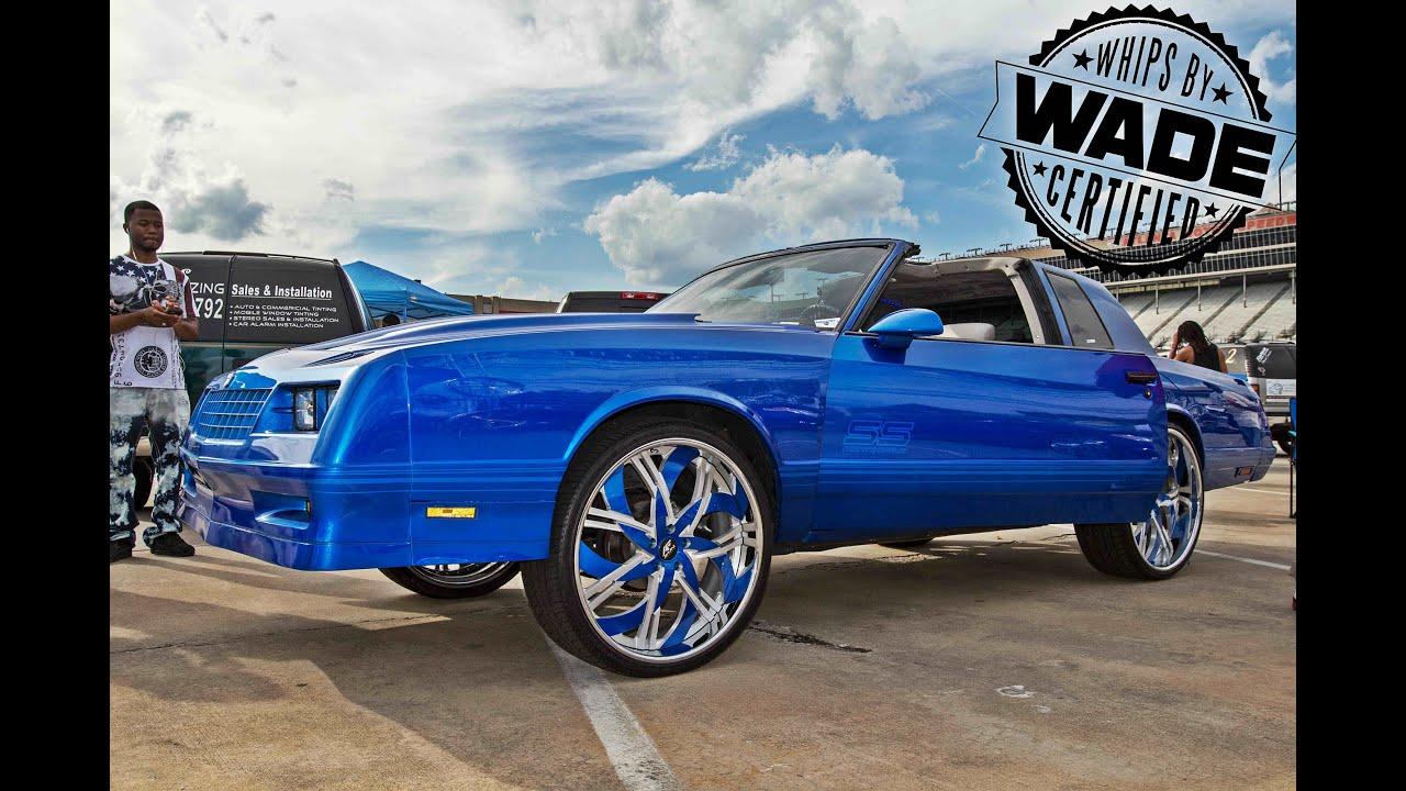"Stuntfest 2k15 : Candy Blue Monte Carlo SS On 24"" Wheels"