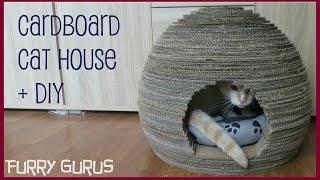 Circular Cardboard Cat House (+ Written Diy)