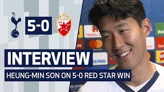INTERVIEW | HEUNG-MIN SON ON 'BEAUTIFUL MOMENT' WITH THE FANS | Spurs 5-0 Crvena Zvedza