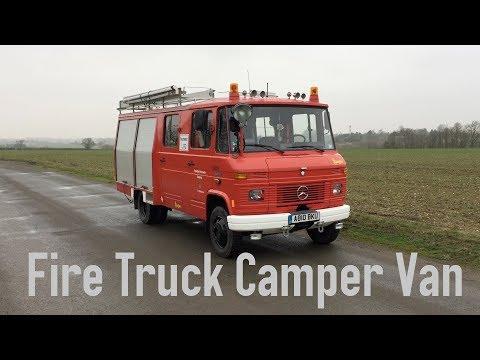 Fire Truck Camper Van   Mercedes Benz 608D   Van Conversion   Feuerwehr Wohnmobil