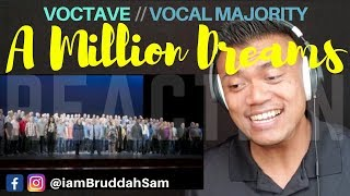 A Million Dreams cover by VOCTAVE & VOCAL MAJORITY | REACTION vids with Bruddah Sam
