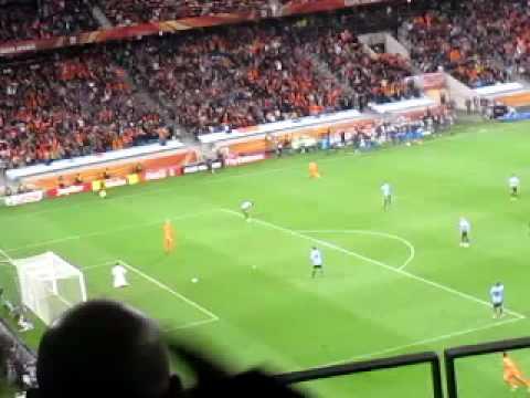 World Cup 2010:  Van Bronckhorst 'Best Goal' Gol Holland vs Uruguay Stadium LIVE Leven