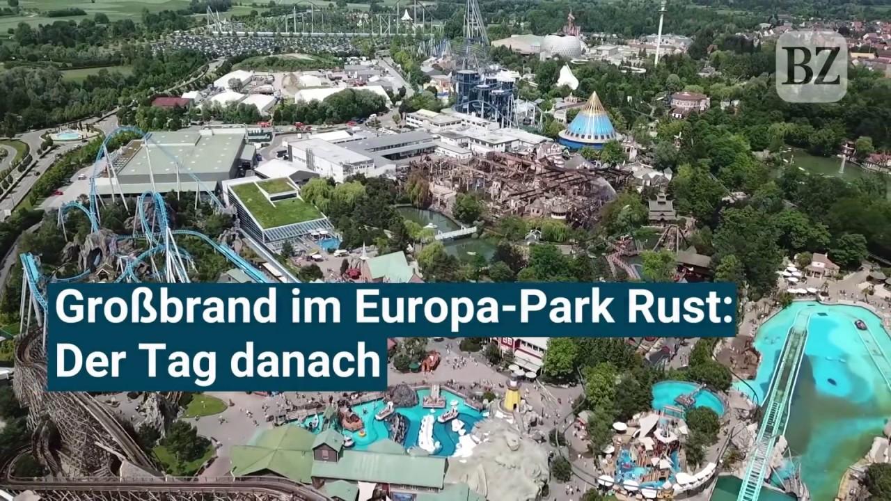 Drohnenvideo Der Tag Nach Dem Großbrand Im Europa Park Youtube