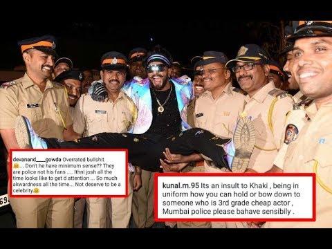 Ranveer Singh Strikes AWKWARD Pose With Mumbai Police, Gets TROLLED! | SpotboyE Mp3