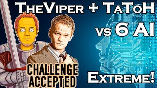 AOE2:DE | TheViper & TaToH vs 6 Extreme AI!