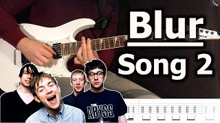 Blur - Song 2 (Guitar Cover Tutorial with Tab)