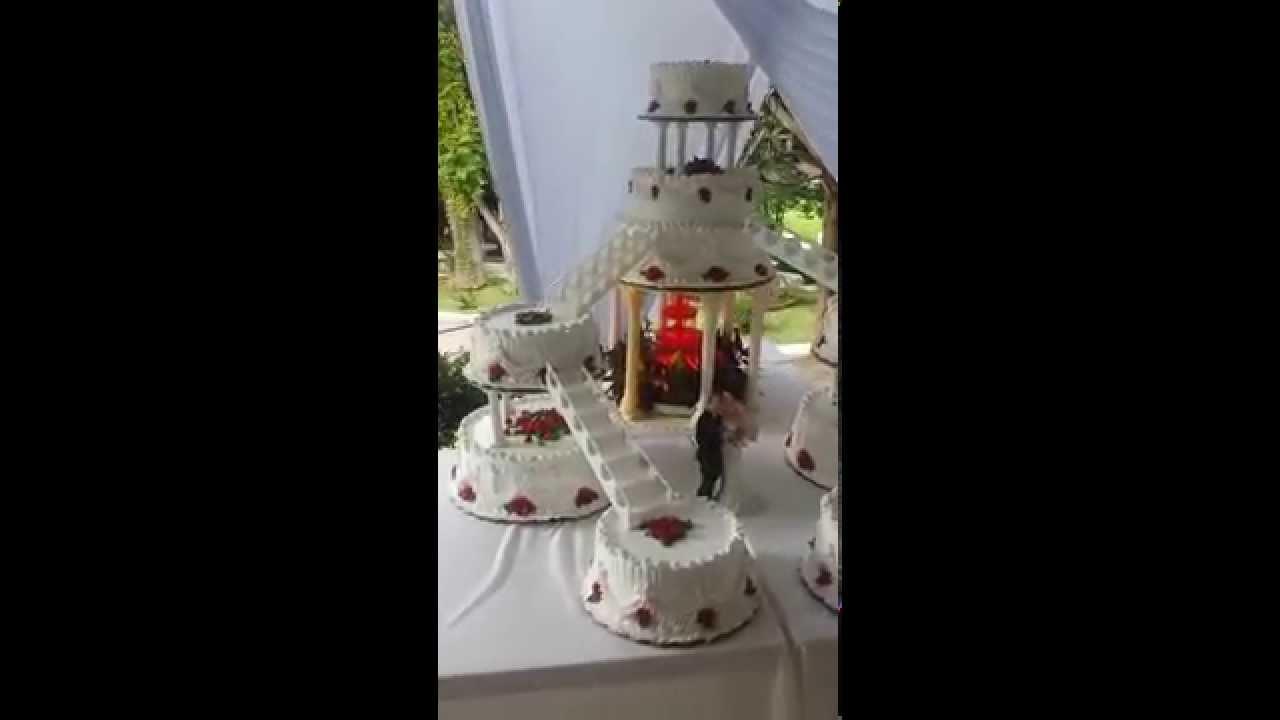 Pastel de boda modelo fuente y dobles escaleras youtube for Modelos de escaleras