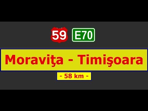 DN 59 (E-70): Moraviţa - Timişoara