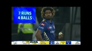 IPL 2019 Final MI vs CSK Last Over Full Highlights | Malinga Last Over Highlights