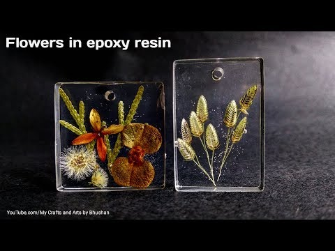 Dried flowers in epoxy resin || DIY resin art pendants for gifts