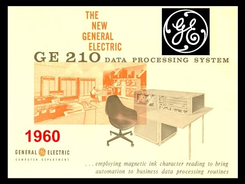 1960 General Electric Computer - GE 210 - 1961 MICR - Banking Finance Data Processing