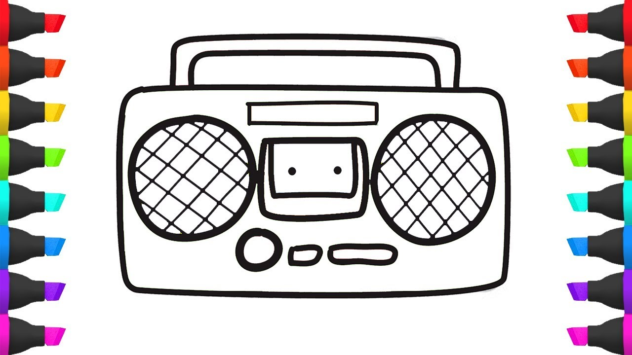Cute Boombox Coloring Pages Ideas - The Best Curriculum Vitae Ideas ...