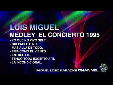 LUIS MIGUEL - MEDLEY CONCIERTO 1995 - [Karaoke] Miguel Lobo