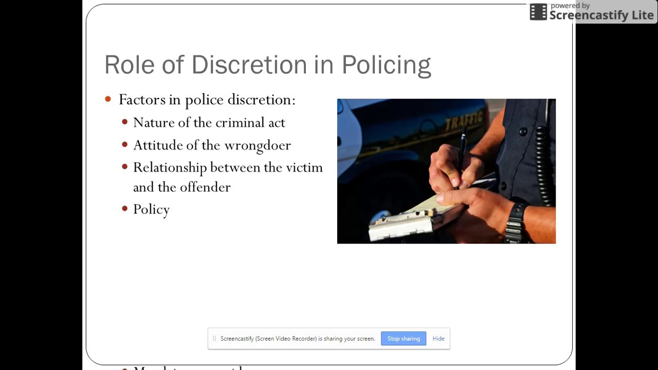 police discretion Discretion quotes from brainyquote, an extensive collection of quotations by famous authors, celebrities, and newsmakers.