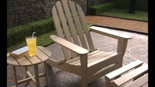 Exclusive! Polywood® Recycled Plastic Classic Curveback Adirondack Chair - Product Review Video